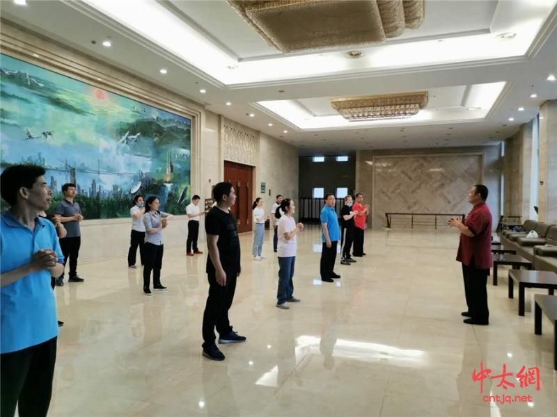 陈氏太极拳传人陈立伟老师 应邀到江西省委办公厅授课